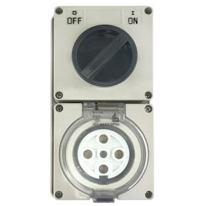 Switched Outlet Socket Round Pin