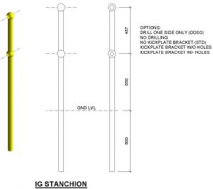 Stanchion handrailing IG Info